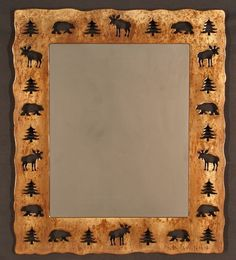 Great mirror for the cabin; Rustic Accessories, Cabin Decor, Lodge Furniture, Hand Carved Vases, Lodge décor
