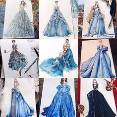 Fashion Design Sketchbook, Fashion Design Drawings, Fashion Sketches, Runway Fashion, Fashion Art, Girl Fashion, Fashion Illustration Dresses, Haute Couture Dresses, Digital Art Girl