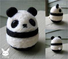 Felted Panda by xxNostalgic.deviantart.com on @DeviantArt