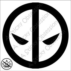 Deadpool Inspired Belt Emblem Custom Decal Sticker by AStickyObsession on Etsy