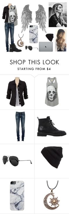 """""""The Divine and The Devilish"""" by hbrooks-001 ❤ liked on Polyvore featuring AllSaints, RoÃ¿ Roger's, Giuseppe Zanotti, Ray-Ban and BP."""