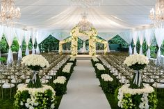 Elegant wedding ceremony in Los Angeles.