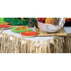 Beach party: table skits for food table