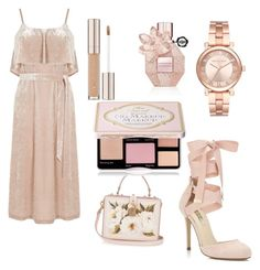 """""""Pretty and perfect"""" by beautybonanz on Polyvore featuring Warehouse, Miss Selfridge, Dolce&Gabbana, Michael Kors, Viktor & Rolf and Too Faced Cosmetics"""