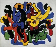 Cubism. Les grands plonguers noirs, Fernand Léger (1944). Oil on canvas. #cubism #art