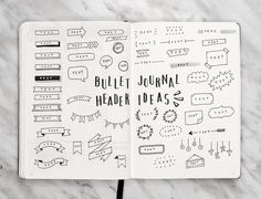"Gefällt 6,880 Mal, 39 Kommentare - AmandaRachLee (@amandarachdoodles) auf Instagram: ""just uploaded a new video where i show you guys 50+ bullet journal header & banner ideas! ✨link in…"""