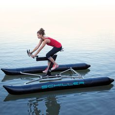 Enjoy the magical experience of biking on water (if not walking!) on this innovative and fun activity device called the Schiller X1 Water Bike.