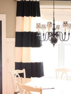love! Horizontal Stripe Drapes Design, Pictures, Remodel, Decor and Ideas