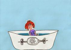 Knutsel Floddertje in bad (beweegbaar) | Thema FLODDERTJE / SCHOONMAKEN Schmidt, Diy For Kids, Kindergarten, Creative, Water, Annie, School Ideas, Cleaning, Corona