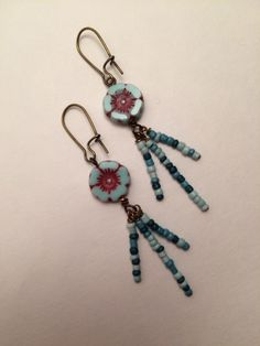 A personal favorite from my Etsy shop https://www.etsy.com/listing/487663103/blu-skies-forever-czech-glass-earrings