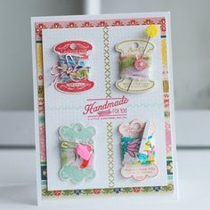 By A Thread Card by Betsy Veldman for Papertrey Ink (November 2012)