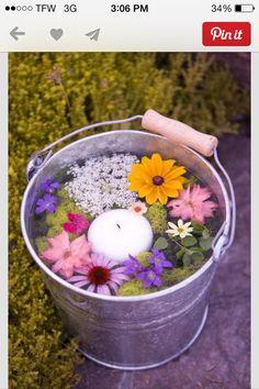 Flowers n bucket
