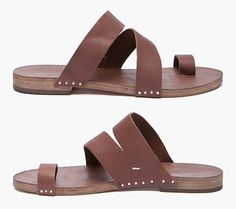 Maison Martin Margiela Toe Ring Leather Sandals for Men