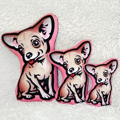 Chihuahua Pillow, Decorative Dog Cushion, Cuddly Mascot Chihuahua Idea Gift, Cute Pet Lover Gift, Psiakrew by PSIAKREW on Etsy