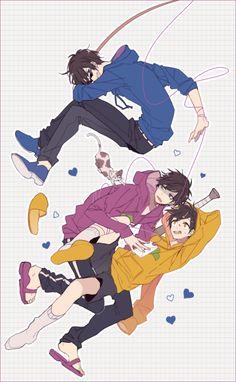 Osomatsu-san || Karamatsu Matsuno, Ichimatsu Matsuno, Jyushimatsu Matsuno.