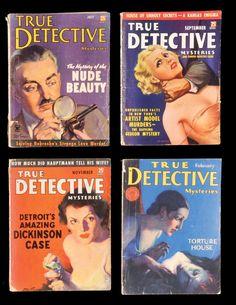 As revistas TRUE DETECTIVE espalhadas pelo apartamento de Lily Caul . Elas nada mais são do que uma publicação ( 1924 - 1995 ) sobre crimes reais . A primeira na época neste estilo .