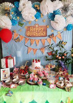 Golden Birthday, 20th Birthday, 4th Birthday Parties, Birthday Bash, Birthday Party Decorations, Birthday Ideas, Animal Crossing, Nerd Party, Cute Happy Birthday