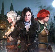 #The Witcher - Ladies by DemonLeon3D on DeviantArt
