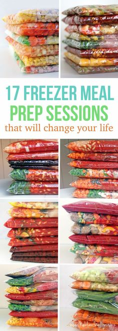 17 Freezer Meal Prep Sessions That Will Change Your Life (grocery Lists and printable recipes included) ~ Simply combine the ingredients in a gallon-sized bag and freeze!