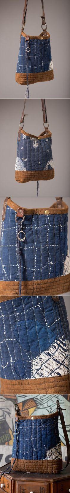 Indigo Boro Bucket Bag