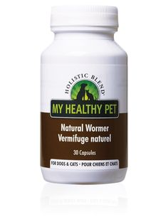 Holistic Blend Natural Wormer The Organic Alternative For Eliminating Parasites Available in 30 caps. Holistic Blend®'s Natural Wormer contains only all natural ingredients & is safe for cats & dogs in all life stages, except for pregnant mothers, but is safe for the mother once she has given birth, and even for her litter while she is nursing.