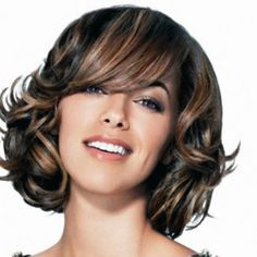 short black hair with brown highlights - Google Search