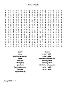 Nuclear Chemistry Vocabulary Word Search for General