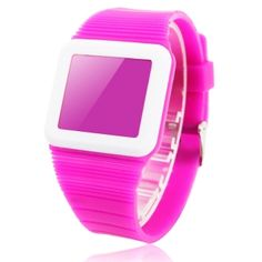 LED New Ultra-thin Silicone Band Digital Date Watch Purple,$2.48