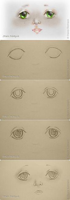 Рисовать лицо. Дети, куклы. | Страна Мастеров