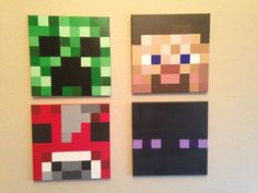 Minecraft Inspired Acrylic Paintings on by MineCraftingArtistry