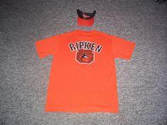 Cal Ripken Jr. Baltimore Orioles MLB Majestic Shirt & Orioles OC Visor-NWOT #BaltimoreOrioles