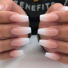 """Jade Tang on Instagram: """"#jadetangtheartist #blackfile #blackfilenails"""" French Fade Nails, Faded Nails, Neutral Nails, Matte Nails, Acrylic Nail Designs, Cute Nail Designs, Nail Polish Designs, Scary Nails, Fun Nails"""