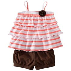 JUST ONE YOU ™ Made by Carters ® Infant Girls Short Set - White/Brown 9M