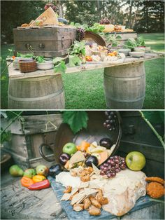rustic hors doeuvre table ideas