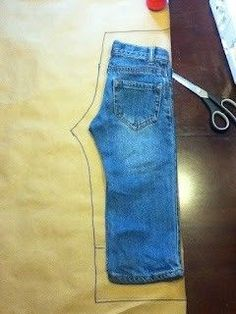 Use another pair of pants to trace your pattern.