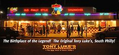 Tony Lukes Cheesesteaks and Philly Style Sandwiches Original Location - Philadelphia, PA 19148    Check out their Wildwood location for a great Philly steak and watch the game.