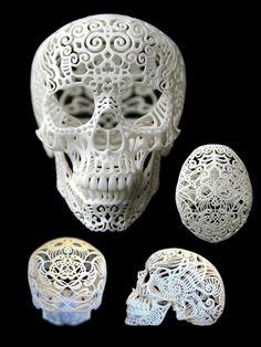 Crania Anatomica Filigre -  Isn't this fabulous! By Joshua Harker #etsy $95.00