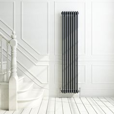 iBathUK | 1800 x 380 mm Traditional Cast Iron Anthracite Triple Column Vertical Radiator