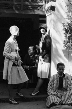 Tourists in Morocco dressed by Jean Patou - January 1929 - Vogue