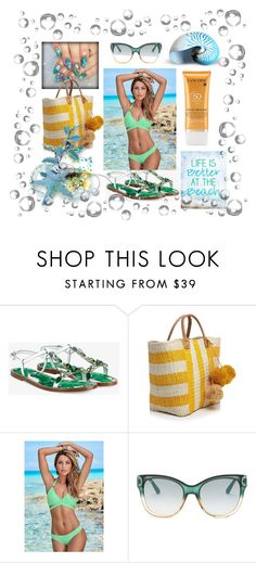 """""""Beach"""" by lidijana ❤ liked on Polyvore featuring Dolce&Gabbana, Mar y Sol, Venus, Gucci and Lancôme"""