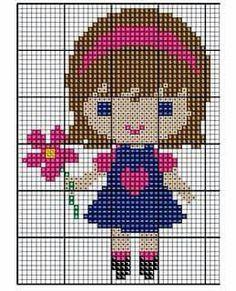 Baby Cross Stitch Patterns, Cross Stitch For Kids, Cross Stitch Borders, Cross Stitch Charts, Cross Stitch Designs, Baby Patterns, Cross Stitching, Cross Stitch Embroidery, Kawaii Cross Stitch
