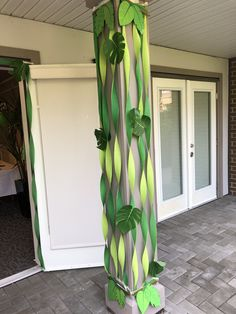 Jungle Vines Made From Plastic Table Cloths Jungle Theme Birthday, 2nd Birthday Party Themes, Safari Theme Party, Wild One Birthday Party, Hawaiian Birthday, Baby Boy 1st Birthday, Dinosaur Birthday Party, Birthday Party Decorations, Jungle Theme Parties