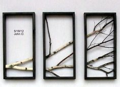 27 Amazing DIY 3D Wall Art Ideas cool... what if we painted the branches bright colours?
