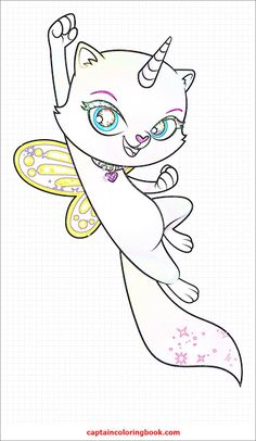 Rainbow Butterfly Unicorn Kitty coloring pages | Kitty ...