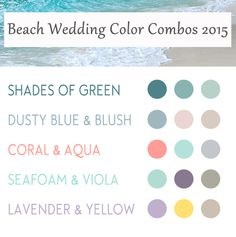 top 5 beach wedding color schemes 2015 trends