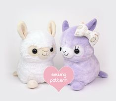 Printable sewing pattern & instructions to make cute kawaii alpaca and llama stuffed animals. Perfect for holiday gifts! Materials, finished product are not included. Sewing skill level: Intermediate Sew your own big, cuddly alpaca and llama plush with my detailed photo and video