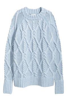 d76c2333cd1a Light Blue Sweater for little girls   Pull femme H M - 45 pulls qui vont  nous