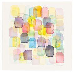 "Chris Chrossen Patzcuaro 31 Watercolor on paper mounted to panel. 10"" x 10"""