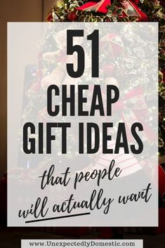 If you're looking for cheap gift ideas, look no further than this list of 51 Christmas gift ideas un Inexpensive Christmas Gifts, Christmas On A Budget, Holiday Gifts, Diy Christmas Gifts For Men, Thoughtful Christmas Gifts, Christmas Gift Ideas For Teens, Cheap Christmas Presents, Office Christmas Gifts, Meaningful Christmas Gifts