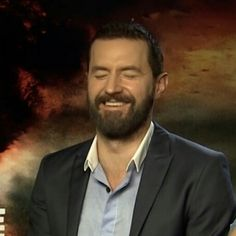 .Richard Armitage, Into the Storm interview Aug 2014 - laughing